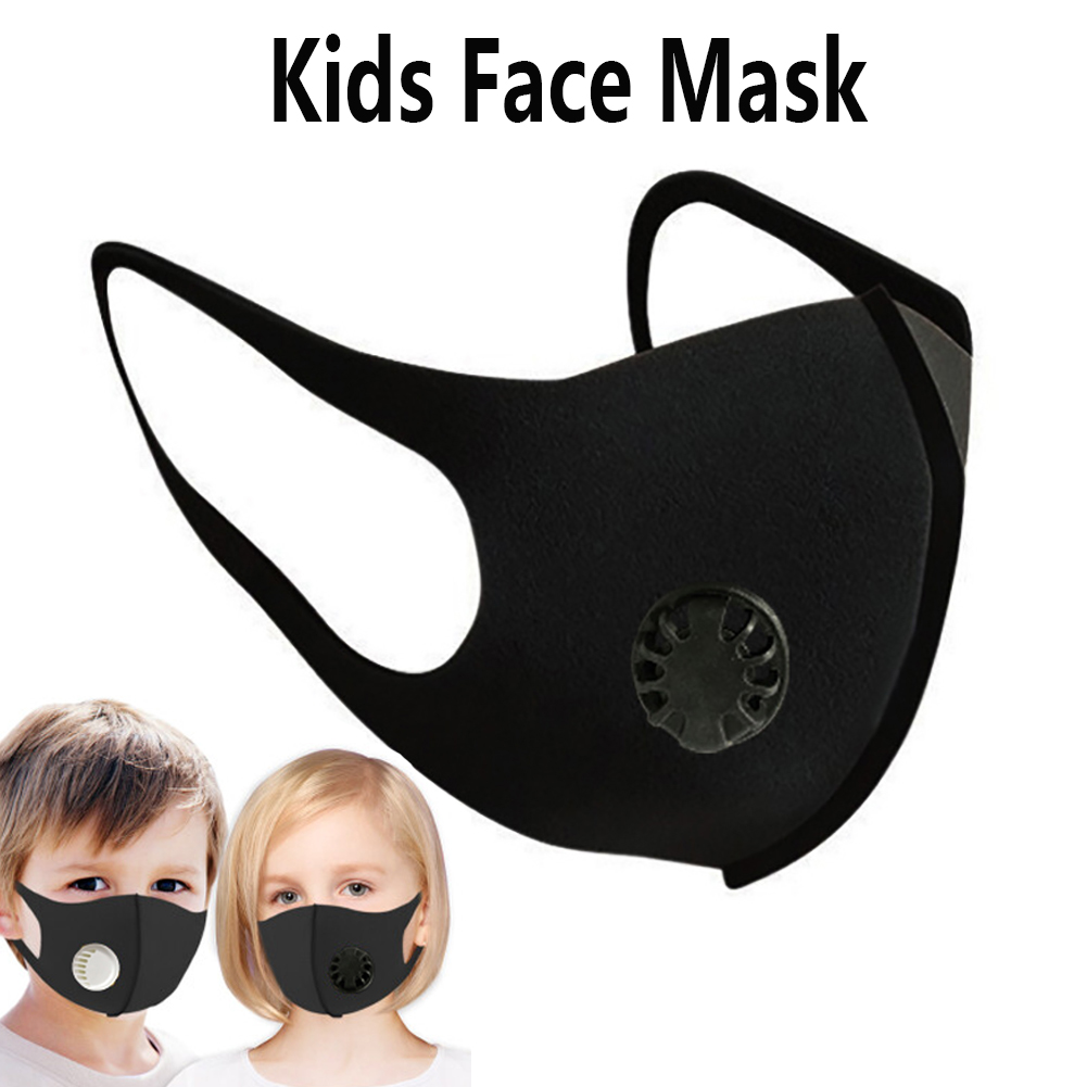 Kids Dustproof Mouth Face Mask Anti Haze Mask Antibacterial Breathable Valved Dust Mask Respirator Washable Reusable
