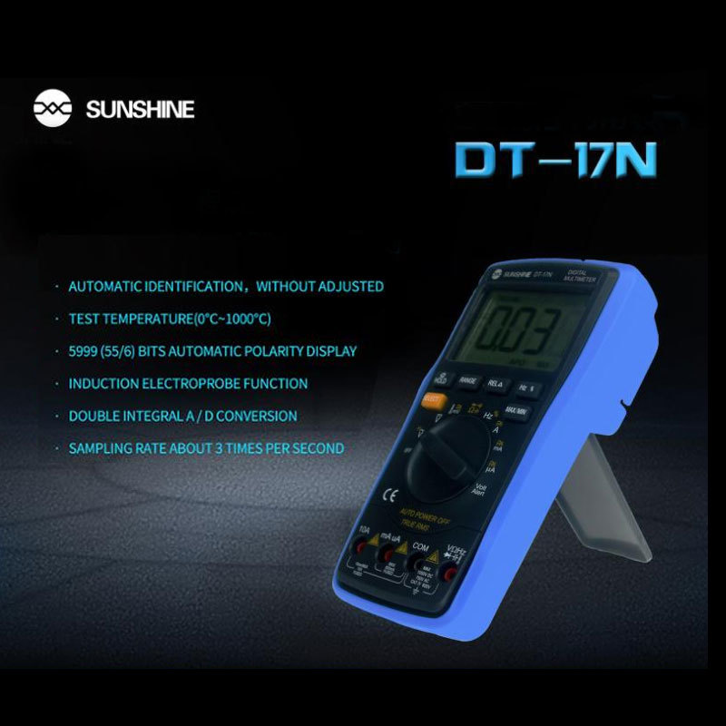 current automatic lcd precision AC 35 DT-17N voltage display resistance instrument high DC 6 Multimeter measure Digital