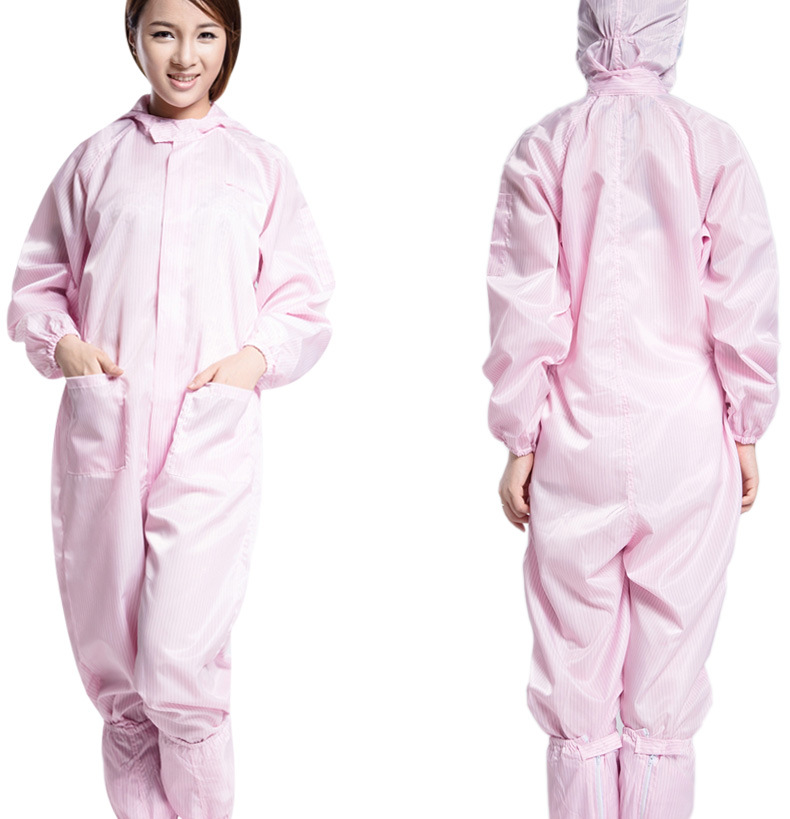 Electrostatic Dust-free Work Clothes Hooded One-piece Dust-free Electrostatic Dust-free Protective Clothing