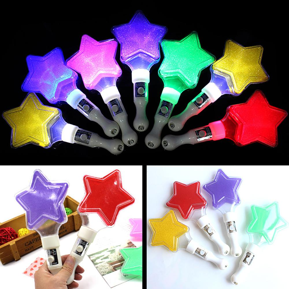 Creative Star Glow Light Stick Night Party Performance Decor Kids Toy Props For Event Festive Party Supplies Concert Decor