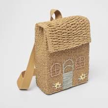Tobo crianças palha tecido mochila meninas bonito pequena casa tecido mochila mini estudante saco de escola única feminino sacos