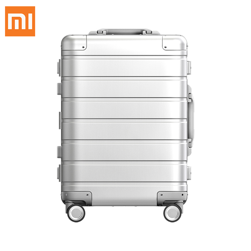 Xiaomi Aluminum Alloy Frame Luggage Trolley Case Men Women Suitcase Spinner Wheels Rolling Metal Luggage 20 Inch