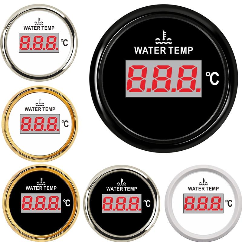 52MM samochód cyfrowy miernik temperatury wody 287.4-22.4ohm stopni celsjusza wnętrza wyścigi samochodowe wody wskaźnik poziomu do zbiornika termometr do wody 9-32V