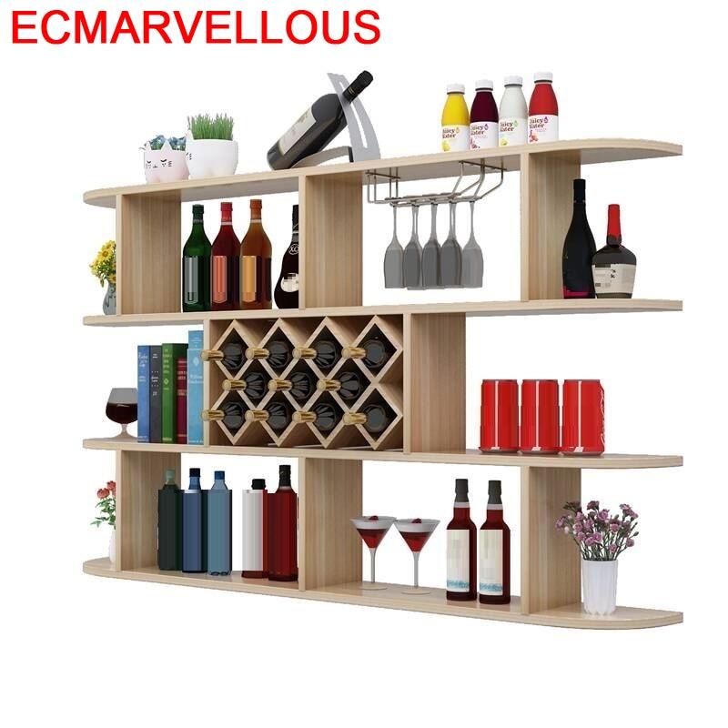 Cristaleira Adega Vinho Cocina Dolabi Meube Shelves Table Storage Hotel Kast Meble Commercial Furniture Mueble Bar Wine Cabinet