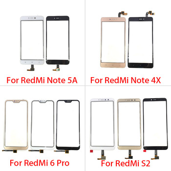For Xiaomi Redmi S2 6 Pro Note 4X 5A Prime Touch Screen Glass Panel Digitizer Sensor Touchpad Front Glass Panel Repair Spare 10pcs lot for xiaomi redmi 6 redmi 6a touch screen digitizer touch panel sensor front outer glass for redmi 6 touch