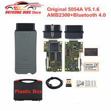Herramienta de diagnóstico de coche, accesorio Original 5054A V5.1.6 Keygen gratuito, Chip OKI completo AM2300 5054, Bluetooth, compatible con UDS 6154, WIFI, OBD