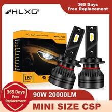 F3 F5 LED Turbo H7 H4 H16 HIR2 9012 H27 880 881 H1 HB3 HB4 5202 Luzes Do Carro de Nevoeiro LED H11 Nebbia Diodos 12V HLXG Canbus Alta Potência