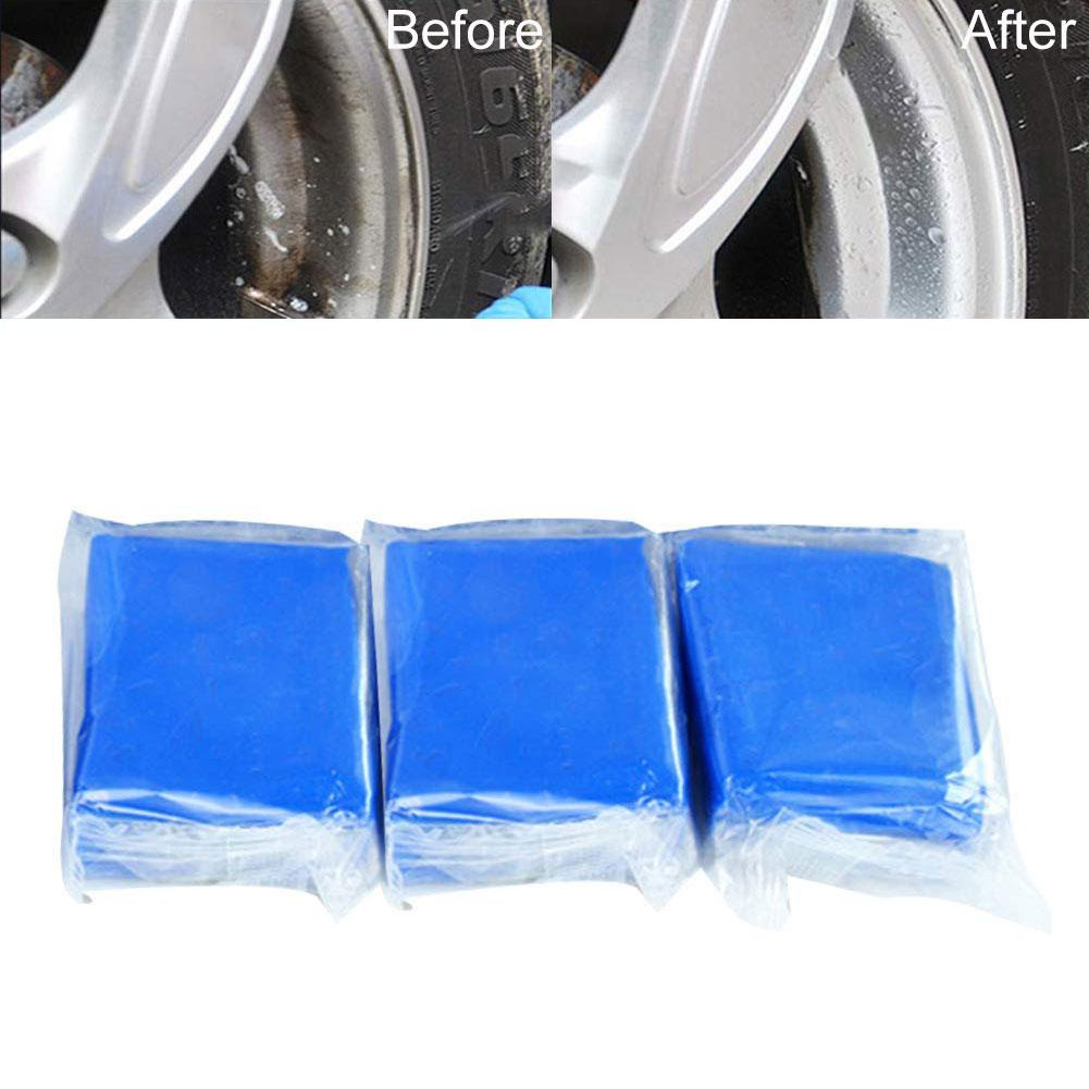 3Pcs 100g Portable Car Vehicle Decontamination Paint Care Washing Cleaning Mud Clay Bar Paint Polishes Tools Maintenance image