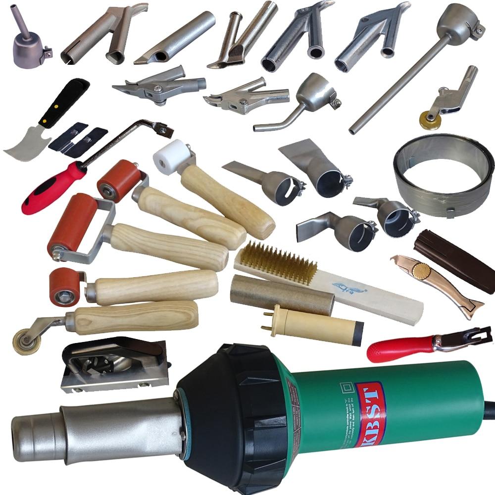 HKBST 220V nebo 110V horkovzdušná svářečka plastová svařovací tepelná pistole pro PP / PVC / PE / PPR vodní nádrže pokovování plechů a stanů tarpaliny