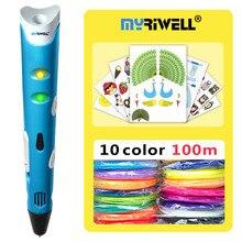 myriwell 3d pens RP-100A ABS Filament,3 d pen 3d model,Creative 3d printing pen,Best Gift for Kids DIY creative,pen-3d pen 3d ручка myriwell rp 200a brown