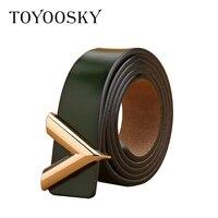 2019 Designers Women Belt Genuine Leather Belt Cummerbunds for Lady V shaped Buckle Elegant Elastic Belt for Female TOYOOSKY