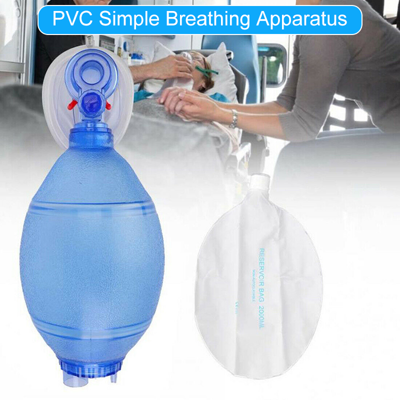 Simple Breathing Tool Adult PVC Mask With Oxygen Tube For Home Professional Use DJA99