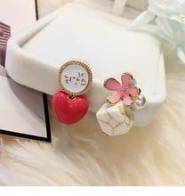 new retro wild  square stone bow earrings women accessories boucles doreilles pour les femmes statement brincos
