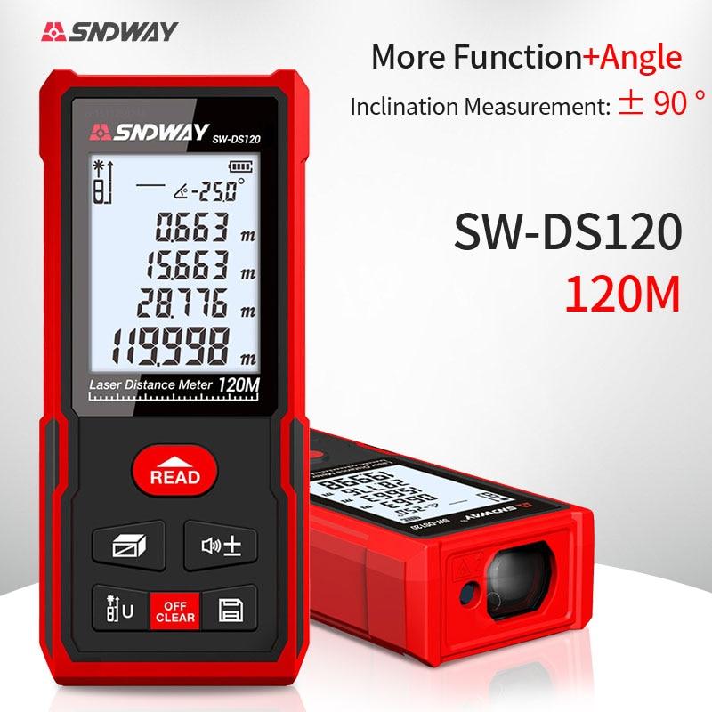 SNDWAY digital laser rangefinder 120m 100m 70m 50m rangefinder electronic roulette Trena tape measure measuring tool ruler