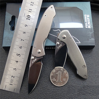 SANRENMU 6011MINI Stainless Steel EDC Pocket Folding Knife with Belt Clip for Travel Camping and Hunting