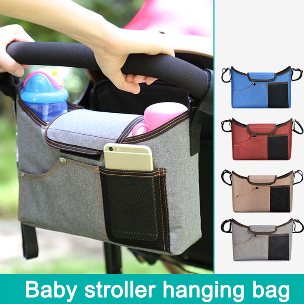 Baby Diaper Bag Mommy Stroller Bags Universal Baby Stroller Organizer Bag Cup Holders Extra-Large Storage Space Baby Accessories