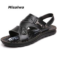 Slippers Sandals Massage-Shoes Daddy Classic Outdoor Male Genuine-Leather New Thick Sole
