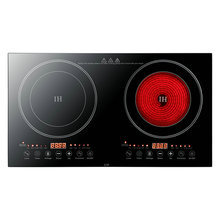 Electromagnetic ceramic stove two pairs of black microcrystalline panel gas stove