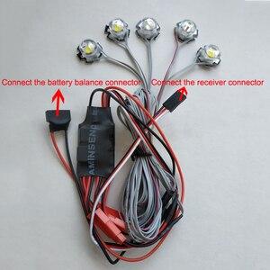 Image 2 - 1 סט RC מטוסי 5W מהבהב בהיר אור ניווט LED מנורות פיצוץ מהבהב 2s 3s 4S 5S 6s בקר חלקים עבור FPV