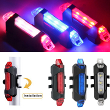 Bicycle-Light Rechargeable Bike Led Usb Safety-Warning Blue White Red