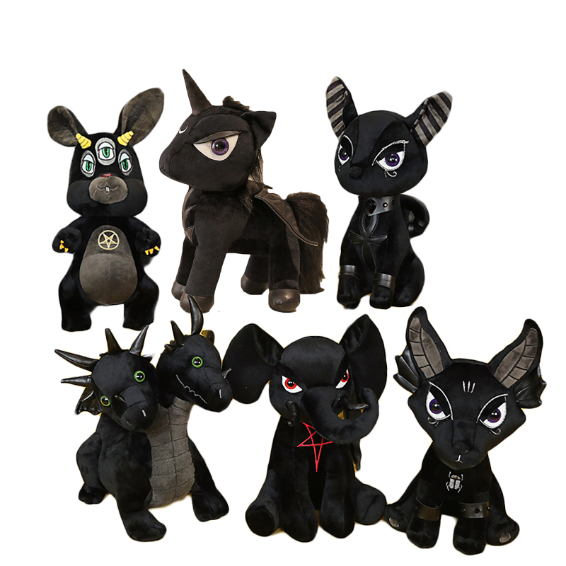 Plush Dark Series Stuffed Unicorn Anubis Hydra Bastet The Role of Ancient Egyptian Mythology Soft Doll Kids Toy