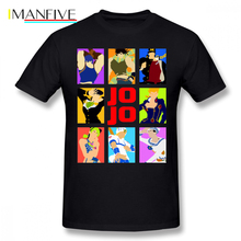 Jojo Bizarre T Shirt S Adventure T-Shirt Short Sleeve Summer Tee Fun Graphic 5x 100 Cotton Mens Tshirt