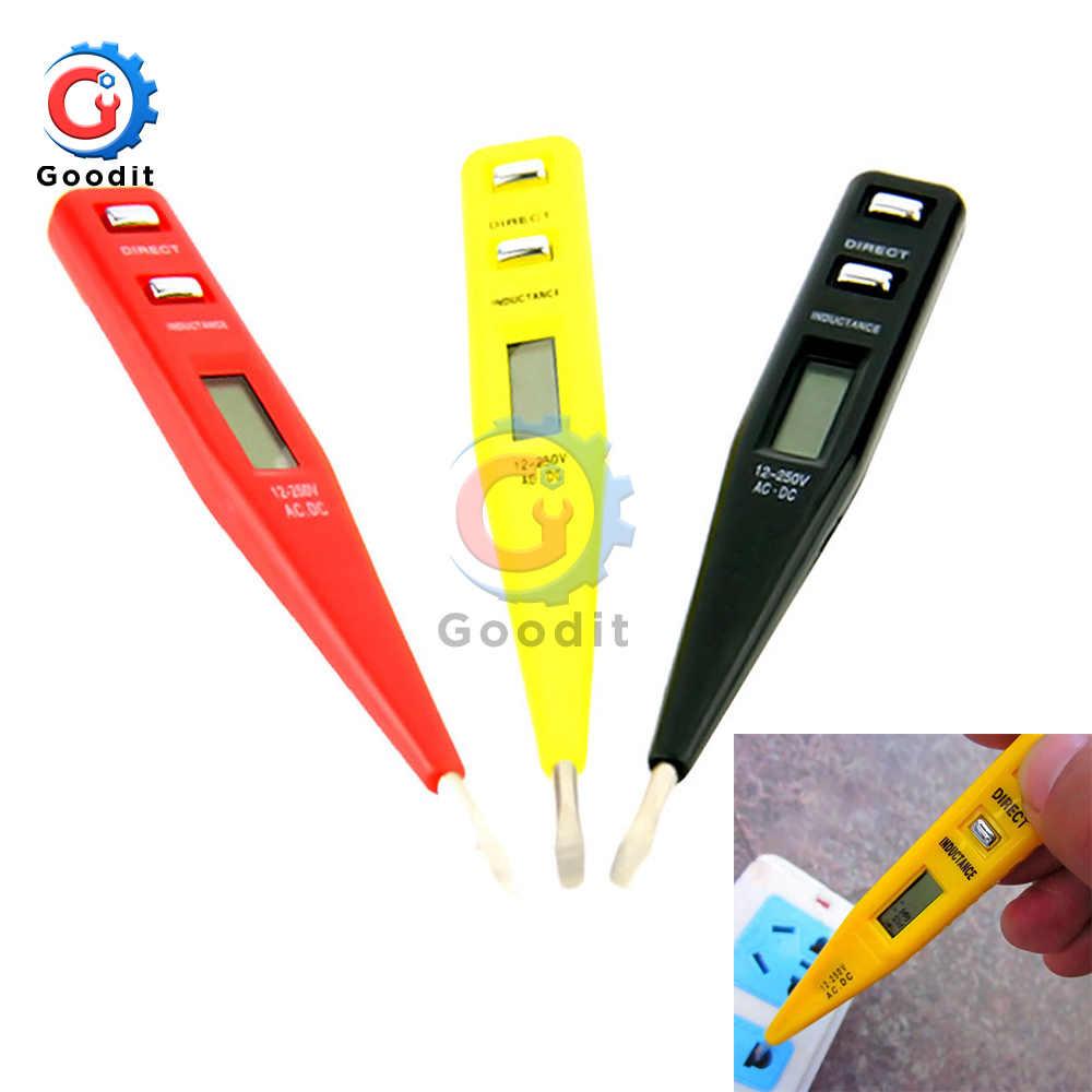AC//DC 12V-250V Volt Detector Sensor Tester Digital Electric Test Meter Pen