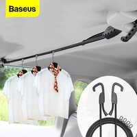 Baseus cabide de casaco de carro ajustável tensão cinto varal gancho cinta auto jaqueta rack roupas carro portátil cabide titular corda