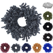 mop Scrunchie Flexible Rubber Band Simple Hijab Volumizing Large Hair Bow Headwear Holder Gum For Accessories
