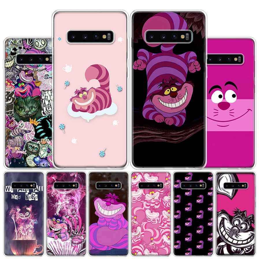Cheshire cat Phone Case For Samsung Galaxy S10 S20 Ultra Note 10 9 8 S10E S9 S8 S7 Edge J4 J6 J8 Plus Cover Coque
