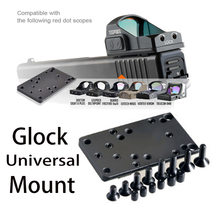 Base de placa de montaje táctico, soporte Universal para pistola, punto rojo, óptica, mira RMR/VENOM/MROS Glock