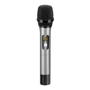 UHF ручной динамический караоке беспроводной микрофон система с перезаряжаемым приемником, 1/4 дюйма разъем, для церкви/PA системы s/Busines