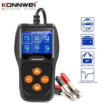KONNWEI KW600 testeur de batterie de voiture 12 V 100 à 2000CCA 12 Volts outils de batterie pour le Diagnostic de charge de démarrage rapide de voiture
