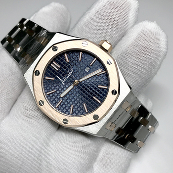 Оптовая торговля ААА кварцевые часы с сапфировым стеклом 33 мм для женщин, высота каблука 18K золотой чехол синий циферблат королевские дамские часы A-p Стиль