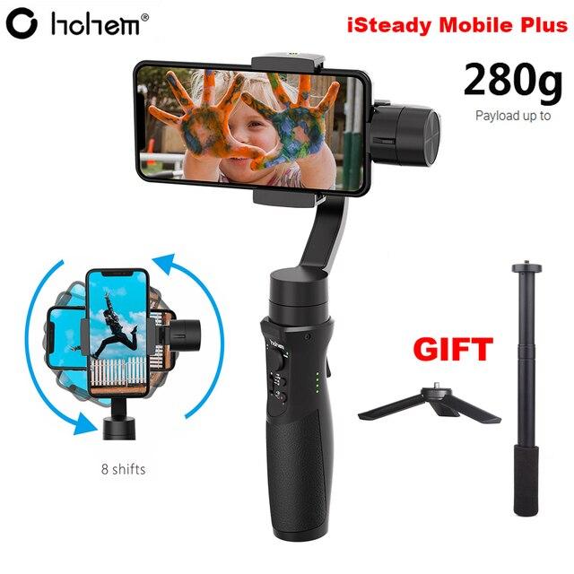 Hohem iSteady נייד בתוספת Smartphone Gimbal 3 ציר כף יד מייצב עבור iPhone 11 פרו מקס XS XR X 8 בתוספת Samsung S10 + S10 S9 +
