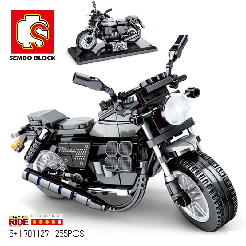 Модель мотокросса SEMBO Technic, конструктор, городской сборный внедорожник, игрушечный мотоцикл, локомотив, Детский конструктор, подарок для мал...
