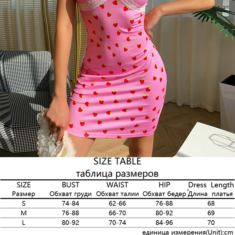 Sweetown Patchwork Lace Edge Y2K Aesthetic Cute Women Dress Summer Sexy Party V-Neck Lace Strap Mini Dress Female 90s Streetwear 12