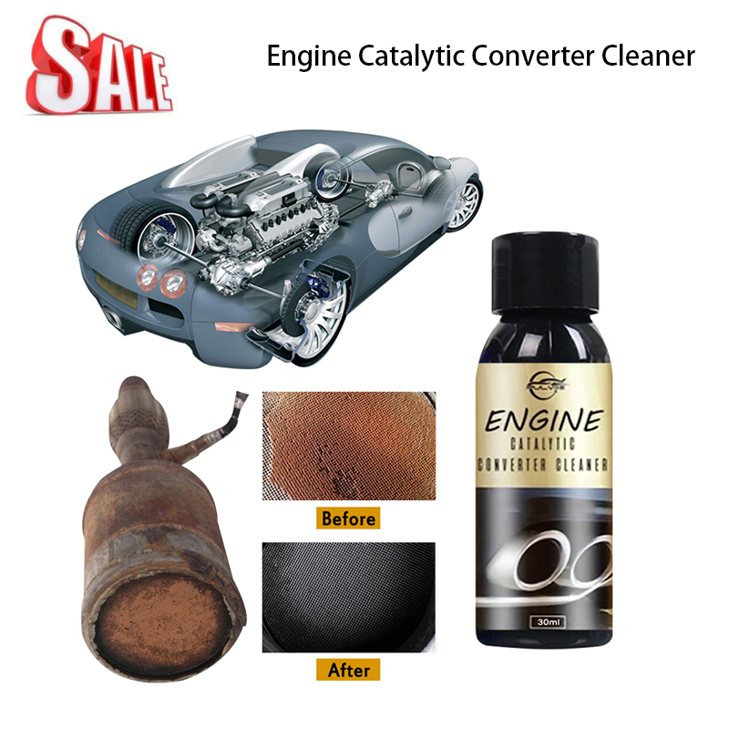 Auto Catalytic Converter Cleaner Bottle Car Engine Air Intake System Cleaning Machine Fuel Injection Cleaning Accessories Tslm2