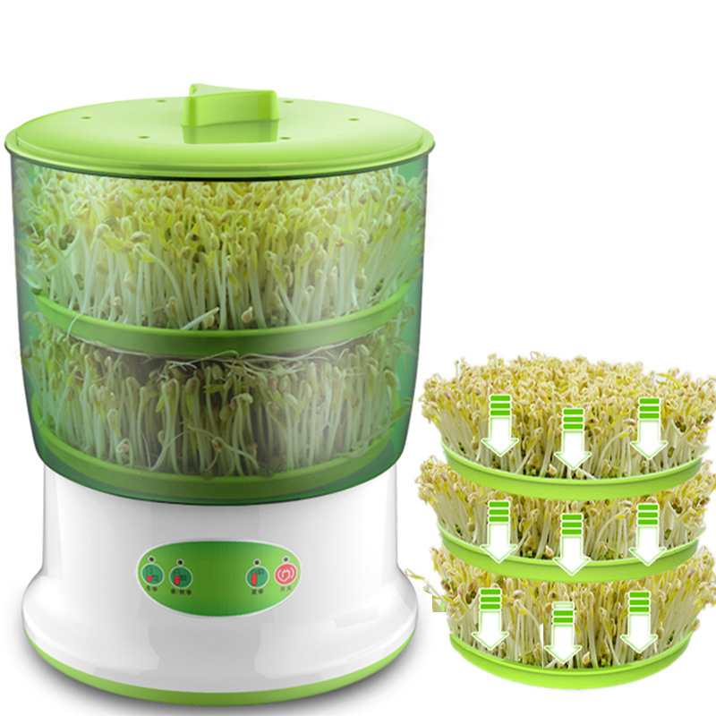Bean Sprouts Machine Home Automatic Large-capacity Bean Sprouts Barrel Green Mung Bean Sprouts Homemade Small Seedling Pot image