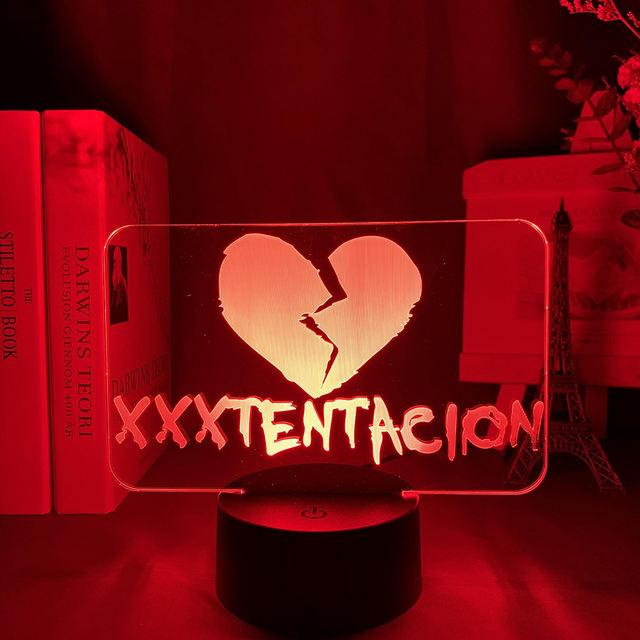 16 COLOR MODE XXXTENTACION 3D LED LAMP