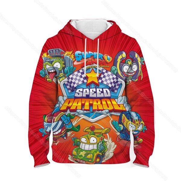 Kids 3D Print Super Zings Hoodie Autumn Winter Children Superzings 6 Series Sweatshirt Sudadera Boy Girl Cartoon Anime Pullover 25