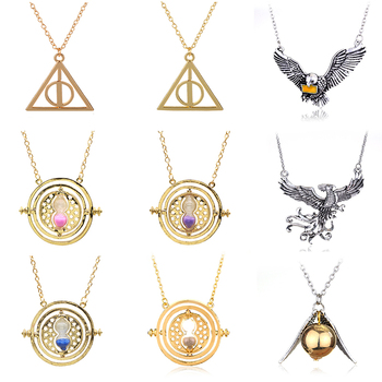 Harried Potters Necklace Series Metal Magic Choker for Women Man Deathly Hallows Pendant Necklace For Fans gorgeous bell pendant choker necklace for women