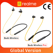 Global Version realme Buds Wireless /Pro Bluetooth 5.0 Magnetic Connection Bass Boost Driver 12H Battery Life For realme 7 Pro 7
