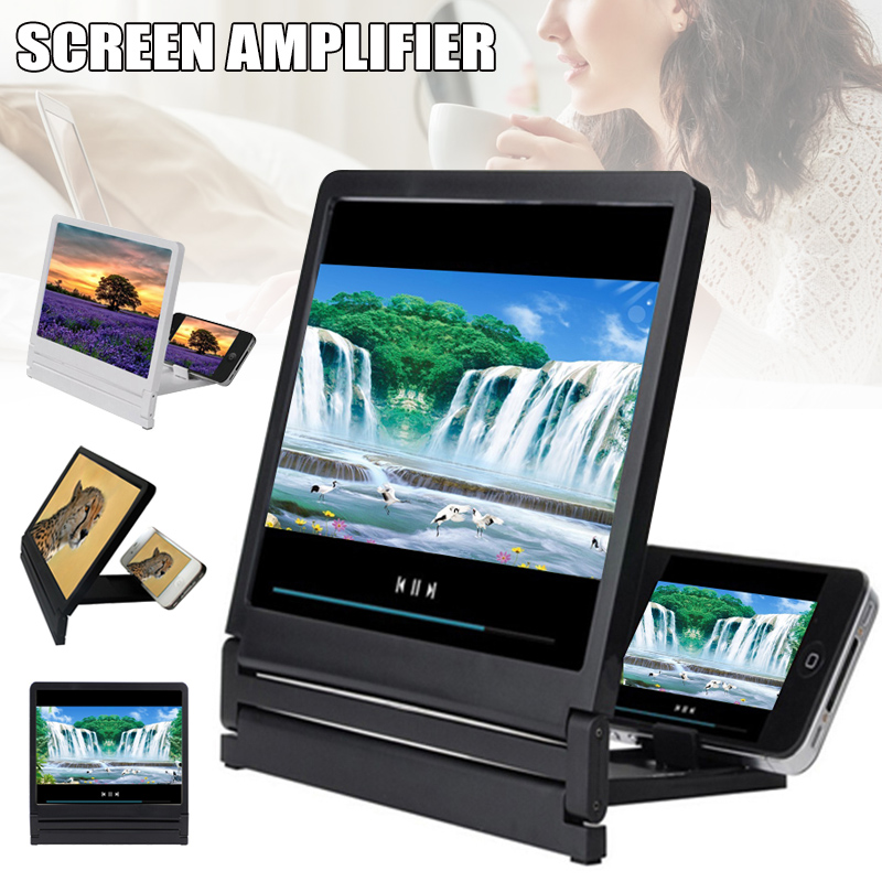 Mobile Phone Screen 3D Magnifier Screen Enlarge 2-3 Times High Definition Amplifier Foldable PUO88