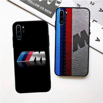 BMW Cool Car Case for Huawei p30 p20 p40 E pro lite p smart y8p y6p y7 2019 cover nova 5t mate 10 20 30 lite image