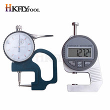 0-20mm Dial Thickness Gauge Curved Tip 0-10mm For Hollow Pipe Or Circular Tube Caliper Gauge flat head thickness digital tester