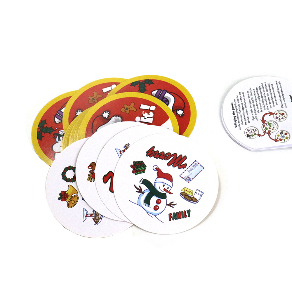 70mm Spot Holidays Board Games Mini Style For Kids Fun Enjoy It Family Home Party Dobbles Card Game