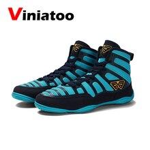 Новая профессиональная борьба обувь для мужчин дышащий борьба бокс ботинки мужской синий красный мягкие тренировочные кроссовки