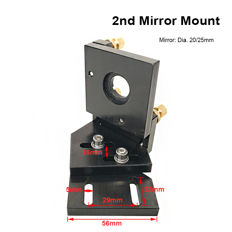 Co2 Laser Second Reflection Dia 20mm 25mm Mirror Mount Support Integrative Holder for Laser Engraving Cutting Engraver Cutter