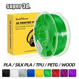 3D Printer Filament PLA/PETG/TPU /WOOD/Silk PLA/ABS /pla plus 0.8/1KG 1.75mm 343 m 3D plastic material pen Overseas Warehouse
